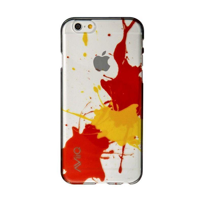 AviiQ Splash Art Yellow Orange Casing for iPhone 6 Plus