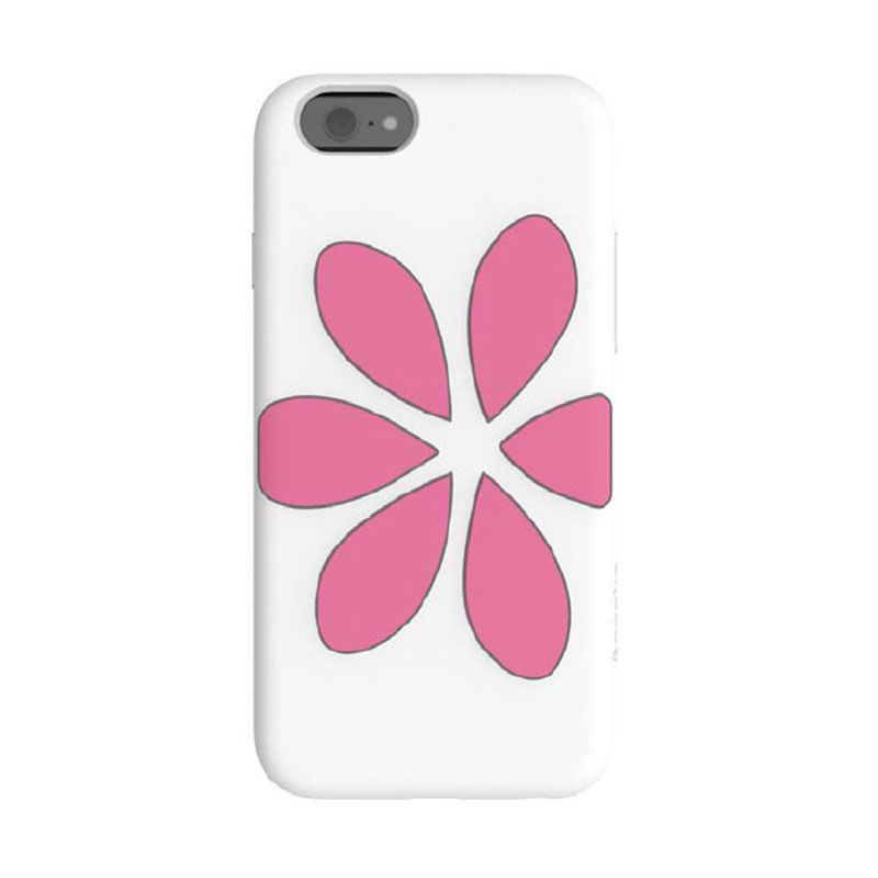 Casing Agent 18 iPhone 6 FlowerVest - White/Pink