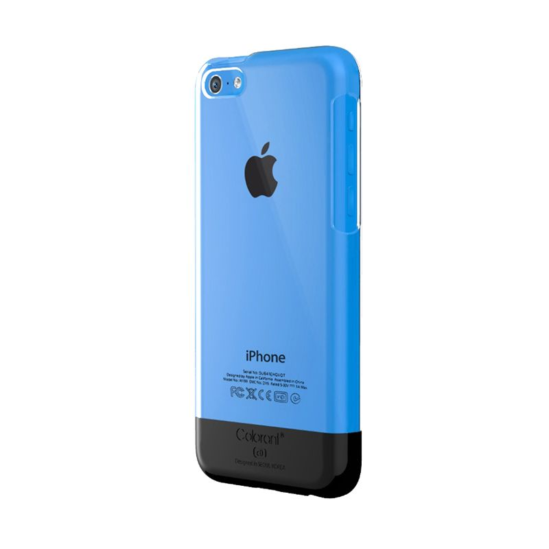 Colorant C0 Slider Hitam Casing for iPhone 5C