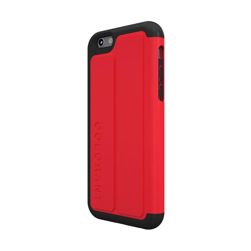 Colorant C3 Folio Red Casing for iPhone 6