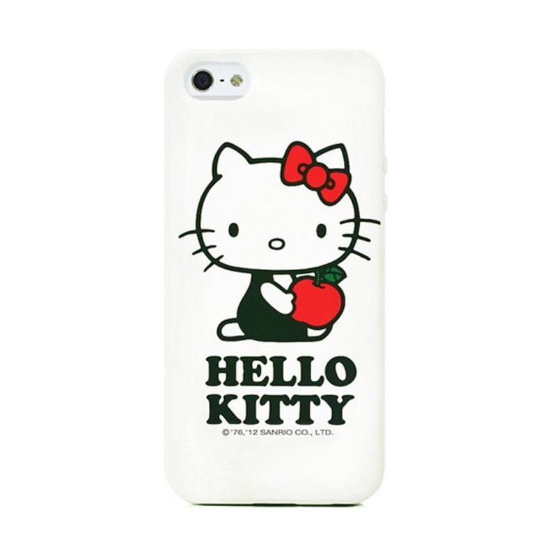 Garmma Hello Kitty Apple A White Soft Cover Casing for iPhone 5S