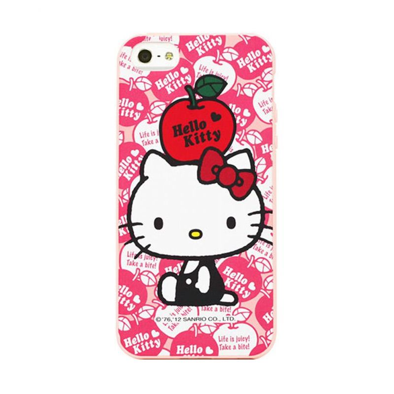 Garmma Hello Kitty Pink Soft Cover Casing for iPhone 5S