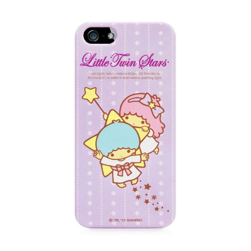 Garmma Little Twin Stars Purple Hard Cover Casing for iPhone 5S