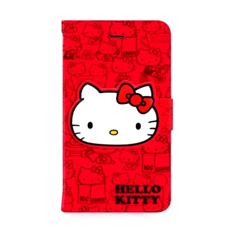 Garmma Book Playful Kitty Merah Casing for iPhone 6 Plus