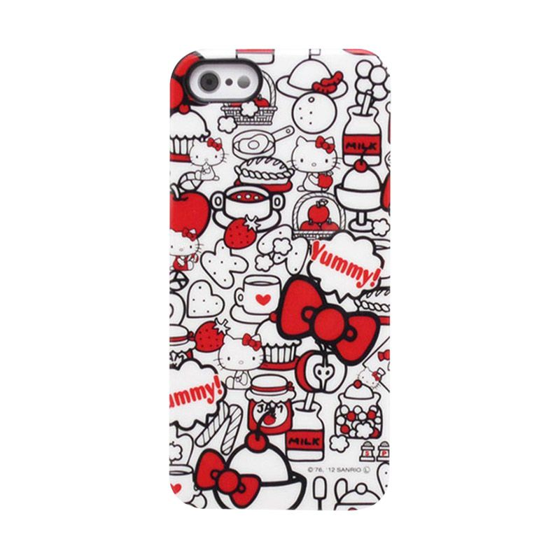 Gourmandise Hello Kitty White Red Hard Casing for iPhone 5S