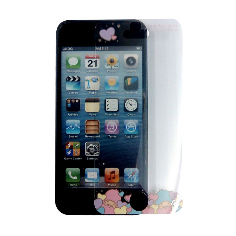 Gourmandise Little Twin Stars Purple Screen Protector For iPhone 5S
