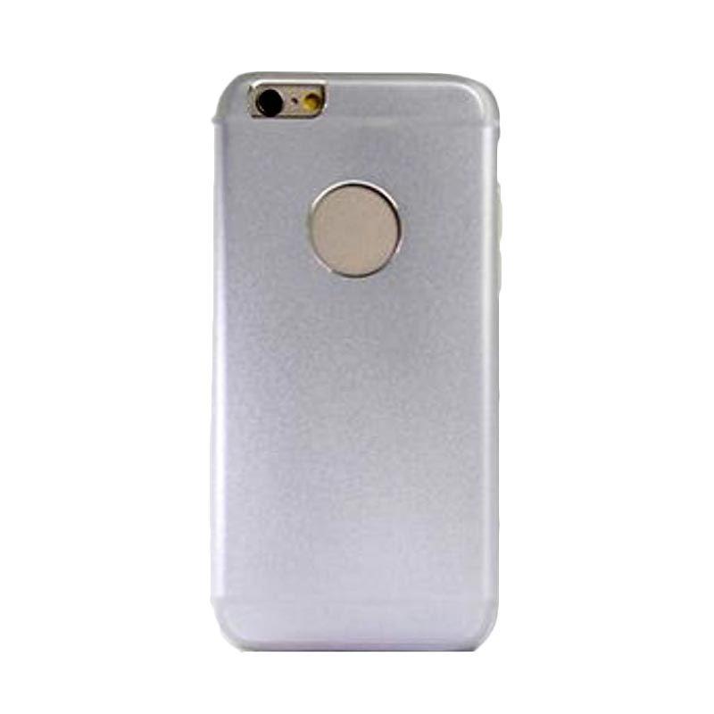 iPearl Glaze Aluminum Pro Silver Putih Casing for iPhone 6