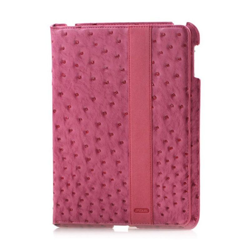 iPearl Ostrich Leather Pink Casing for iPad New