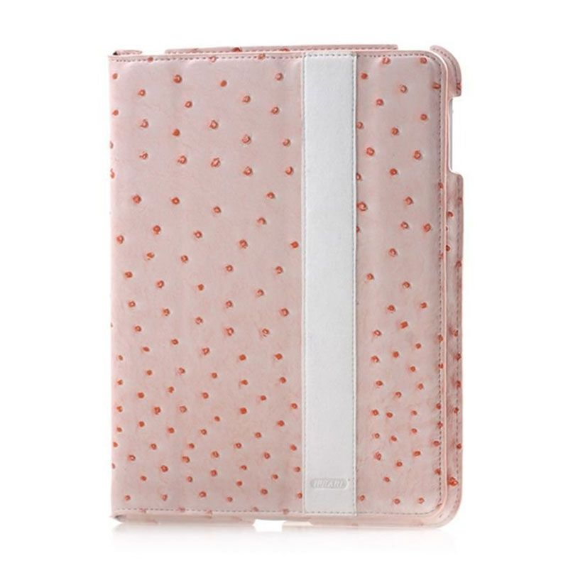 iPearl Ostrich Leather Rode Casing for iPad New