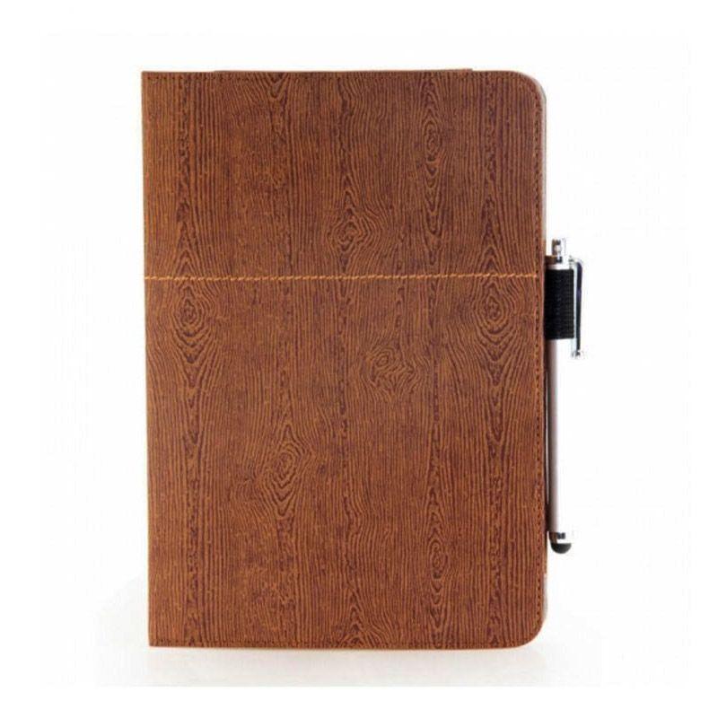 iPearl Scroll Leather Coklat Casing for iPad Mini