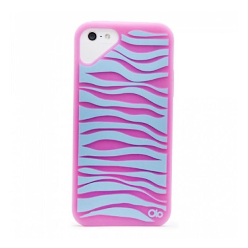 OLO Fashioned Zebra Pink Rhodomine Red Casing for iPhone 5