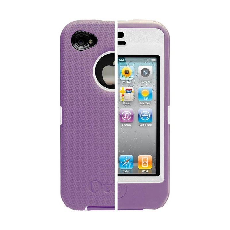 OtterBox Defender Wh Ungu Casing for iPhone 4