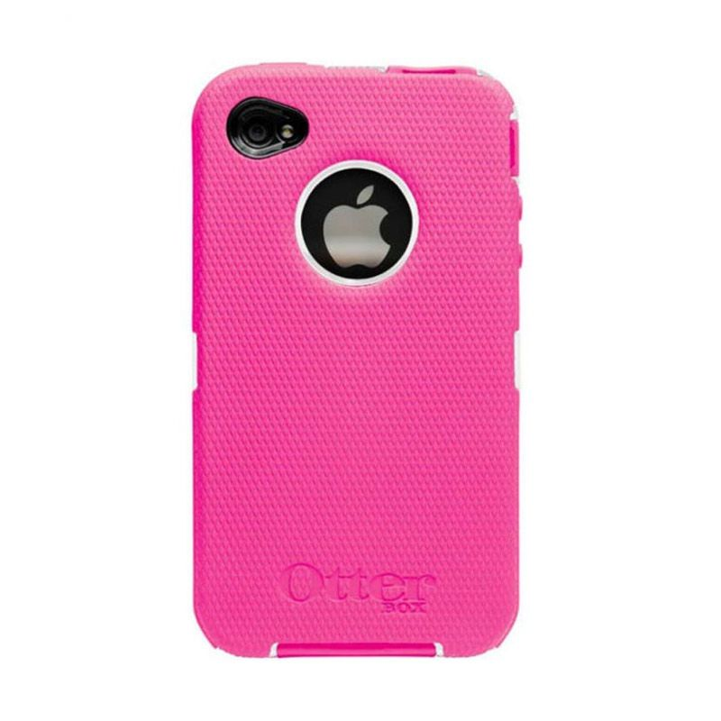 OtterBox iPhone 4 Defender - Wh Plastic / Pink Silicone Casing