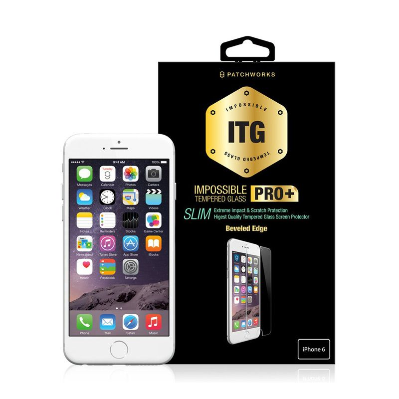 Patchworks ITG Pro Slim Glass Clear Skin Protector for iPhone 6
