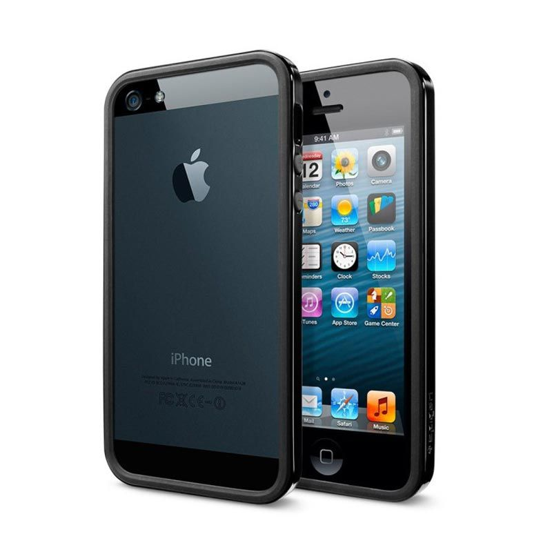 Spigen SGP iPhone 5 Neo Hybrid EX Slim Vivid - Soul Black