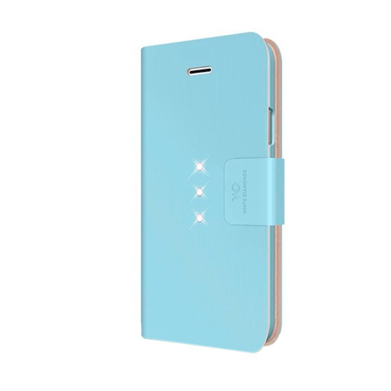 White Diamonds Crystal Wallet Light Blue Casing for iPhone 6