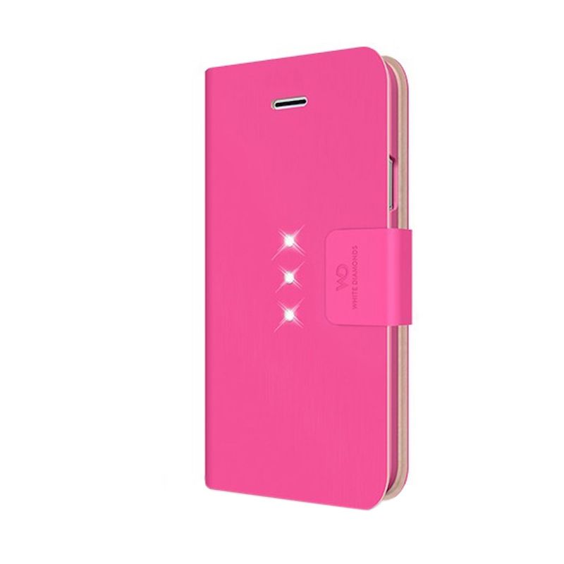 White Diamonds Crystal Wallet Pink Casing for iPhone 6