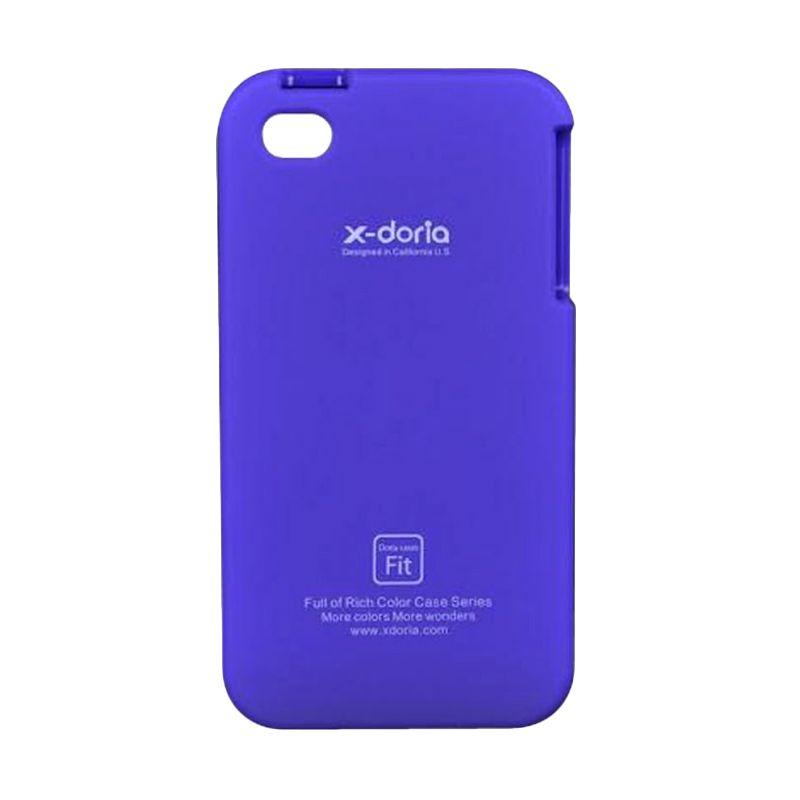 X-doria Full Protection Case Purple Casing for iPhone 4