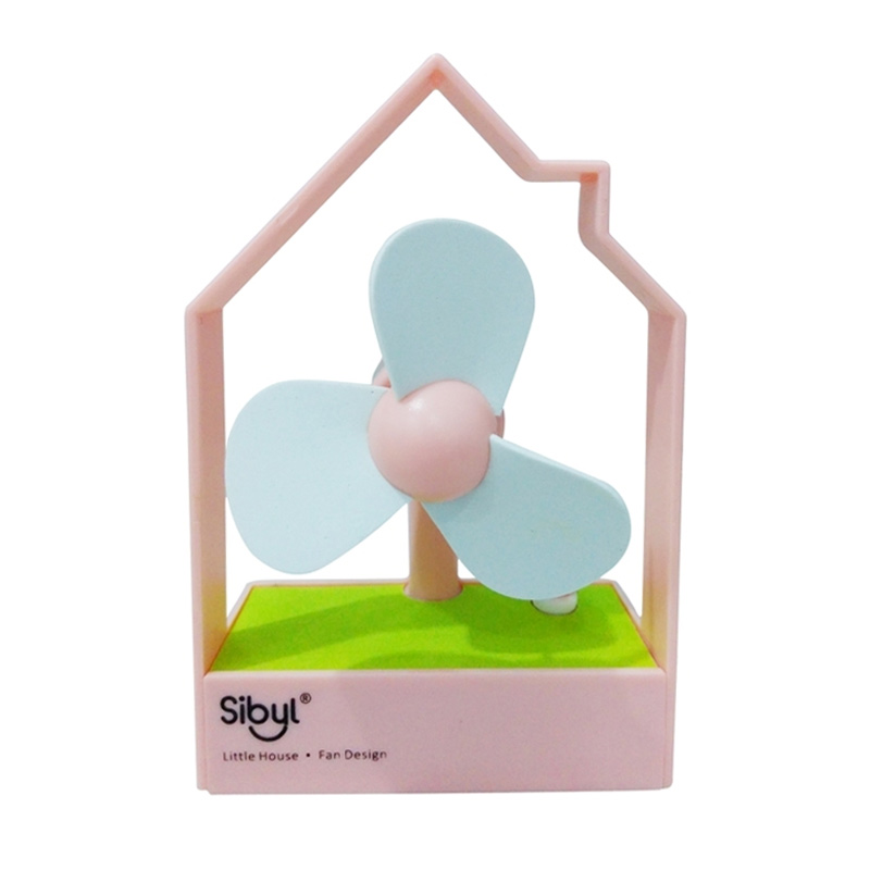 SiByl Little House Pink Kipas Angin Mini [Portable USB Fan]