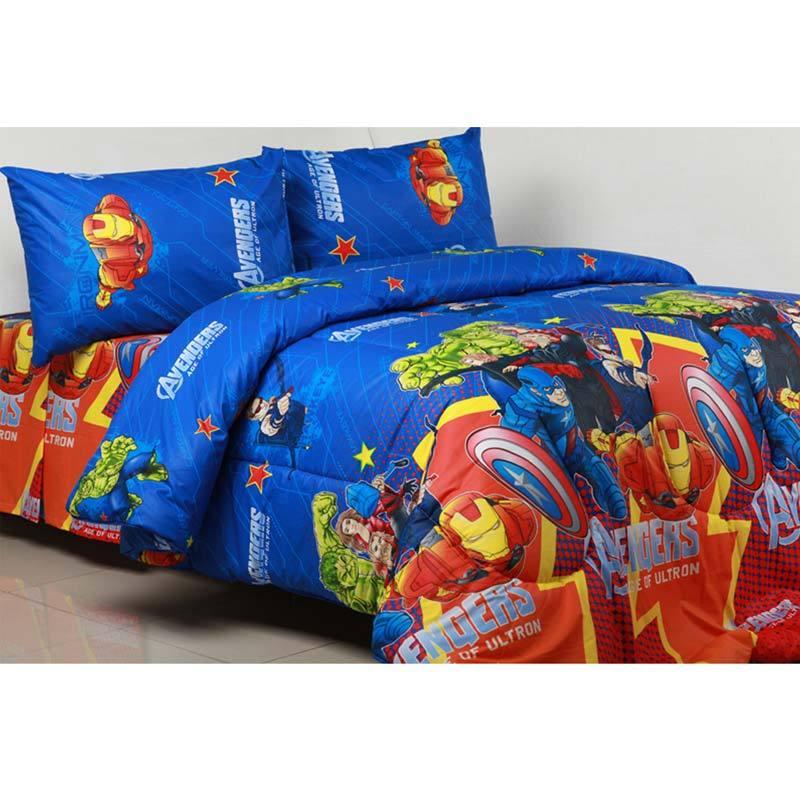 Sierra Avengers Biru Set Bedcover dan Sprei