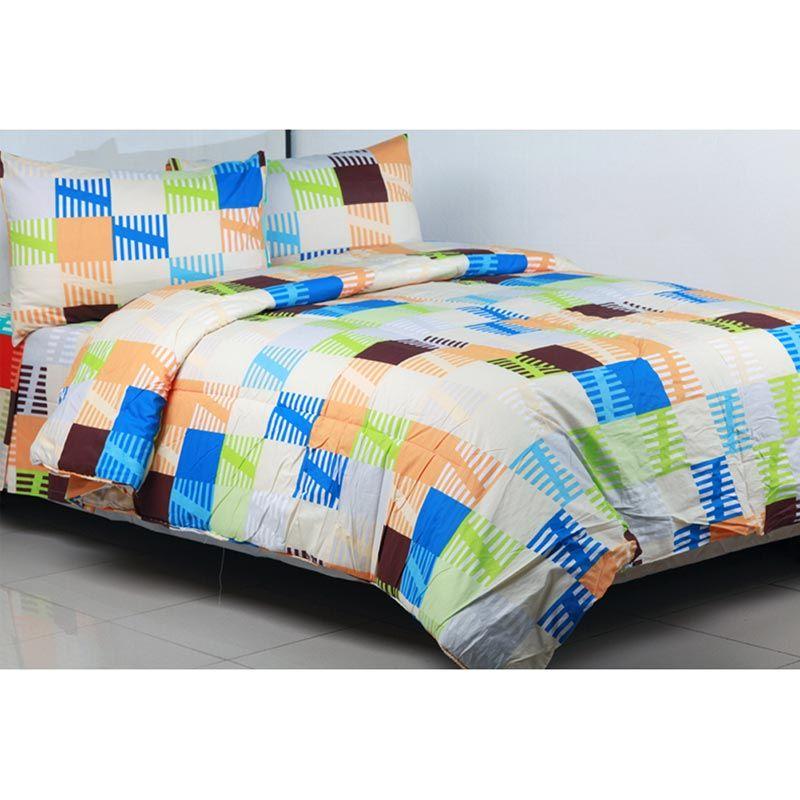 Sierra Domino Biru Set Sprei dan Bedcover