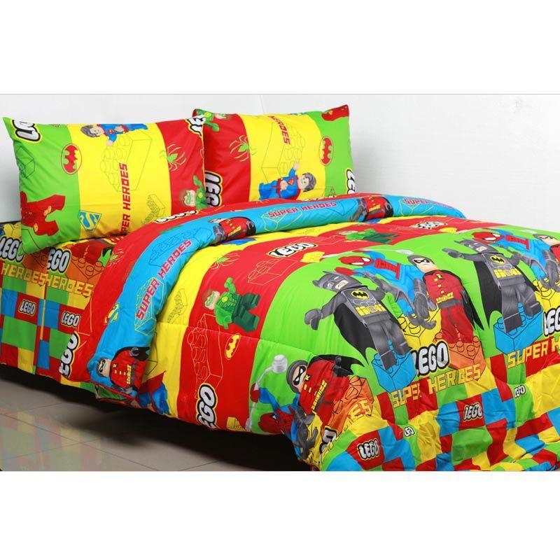Sierra Lego Superheroes Set Bedcover dan Sprei