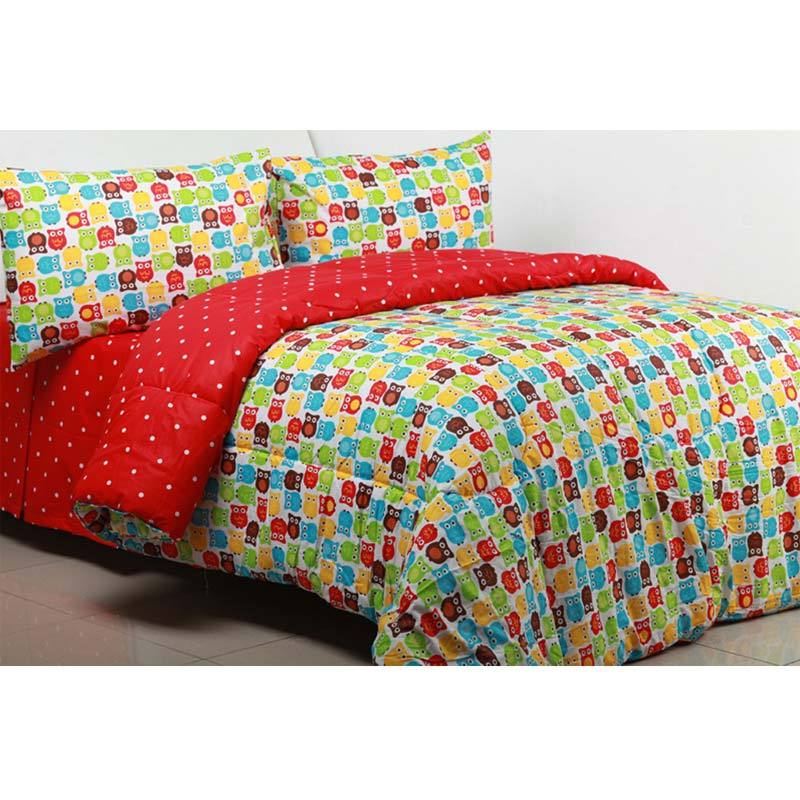 Sierra Little Owl x Dottie Multicolor Sprei