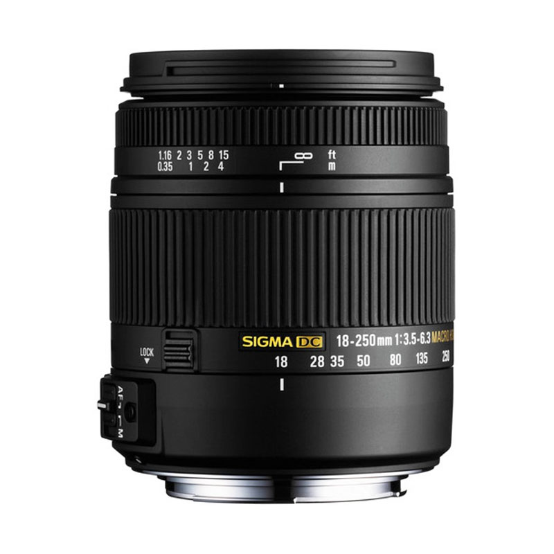 Sigma Lens 18-250mm f/3.5-6.3 DC Macro OS HSM for Canon