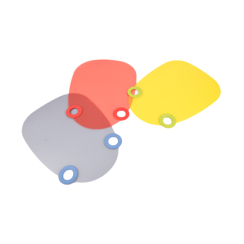 Siliconezone Chop N Drop Chopping Board Hijau, Merah, Biru Talenan [3 pcs]