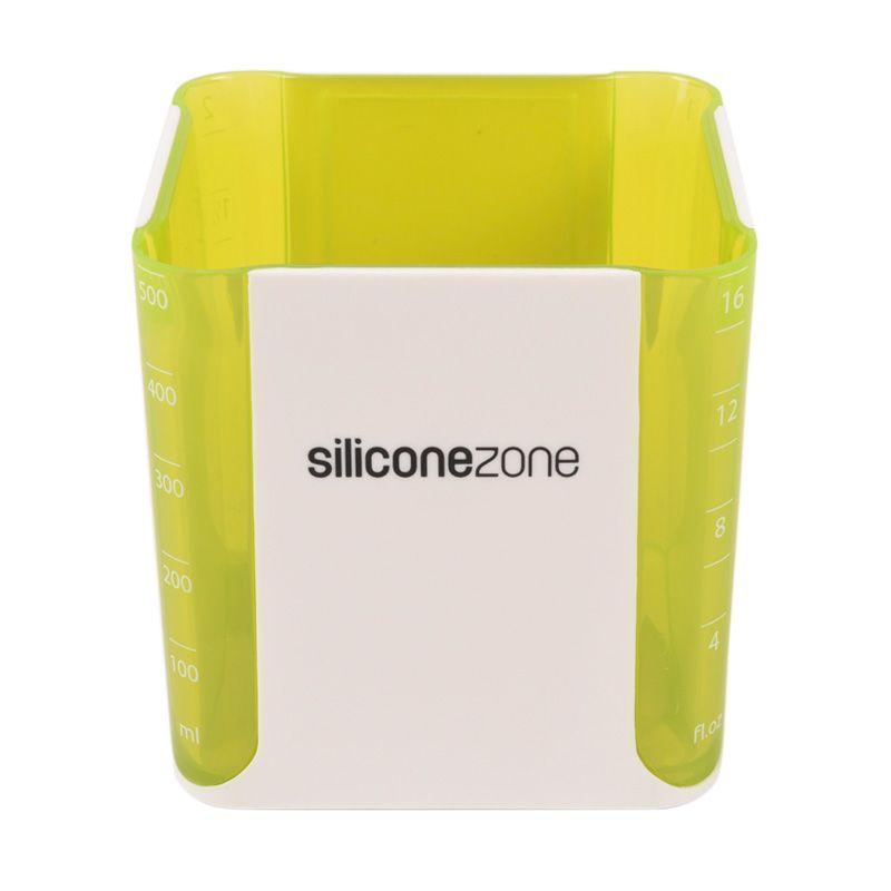 Siliconezone Measuring Cube Hijau Gelas Takar