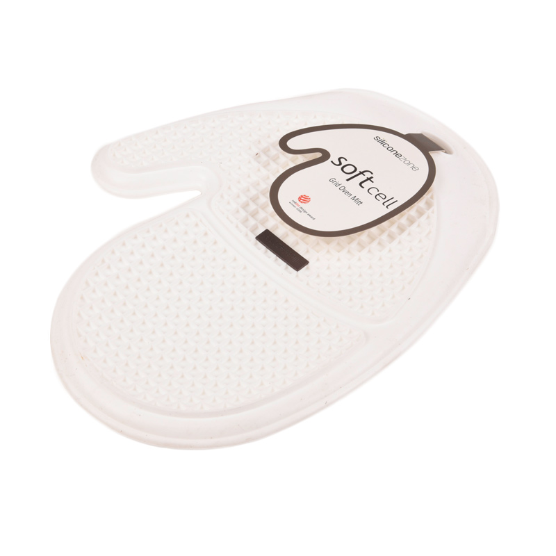 Siliconezone New Soft Cell Grid Oven Mitt Putih Cempal