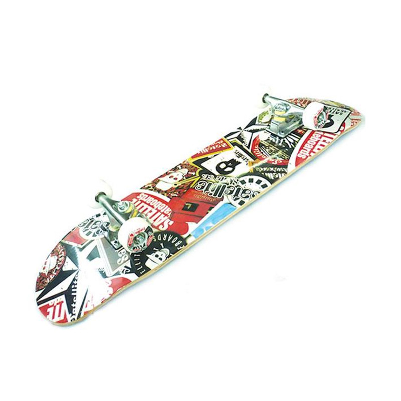 Silver Fox Canadian Maple Satelite Skull LY-3108AE-3LM-6 Skateboard