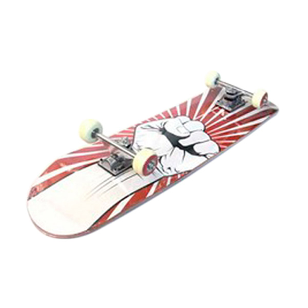 Silver Fox Maple Red Hand LY-3108AA-Y-31-82 Skateboard