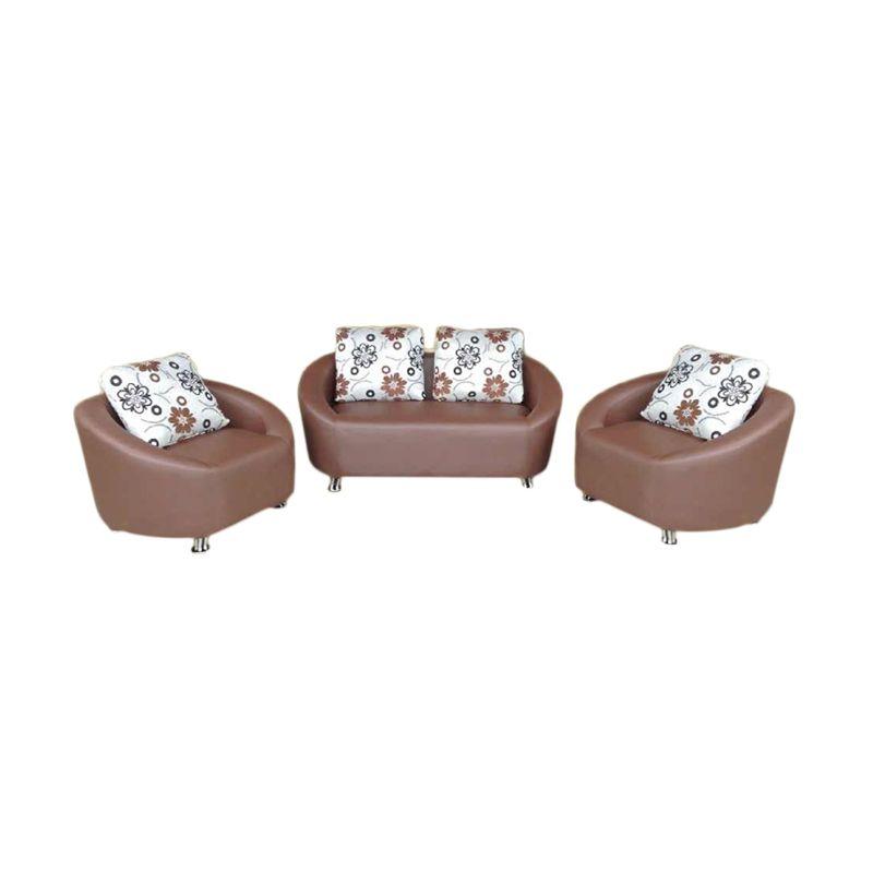 Anugrah 211 Minimalis Zero Coklat Sofa