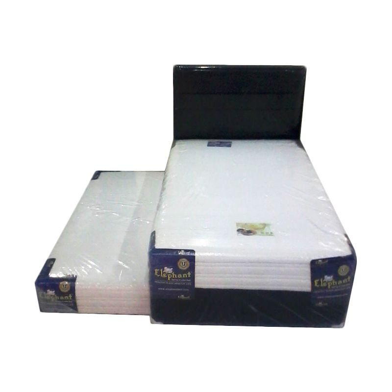 Elephant 2 in 1 Amadea Foam Hb Lagos Hitam Set Spring Bed [120 x 200 cm]