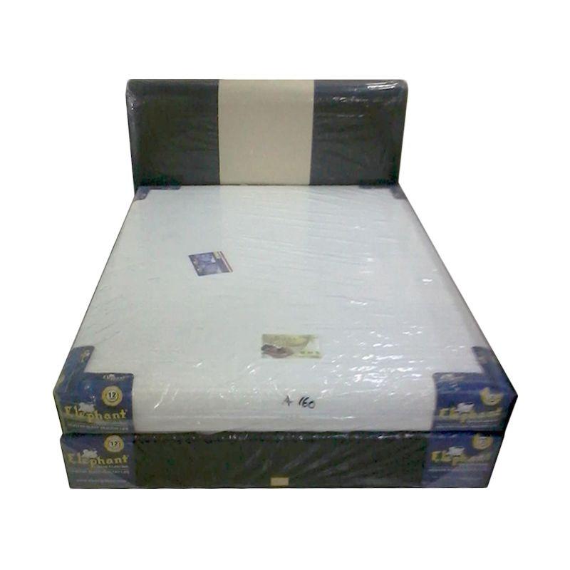 Elephant Amadea Foam Hb Monaco Hitam Krem Set Spring Bed [160 x 200 cm]