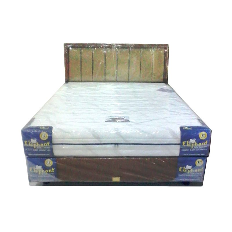 Elephant Pedic Putih Set Spring Bed [160 x 200 Cm]