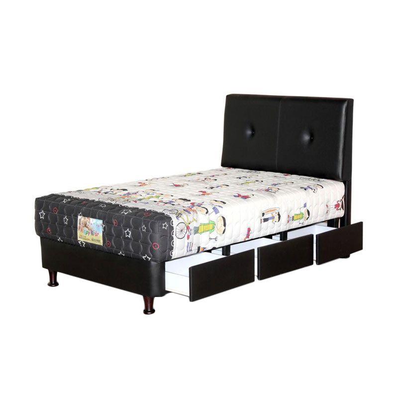 Guhdo Happy Kids Drawer Bravo Set Spring Bed [120 x 200 x 50 cm]