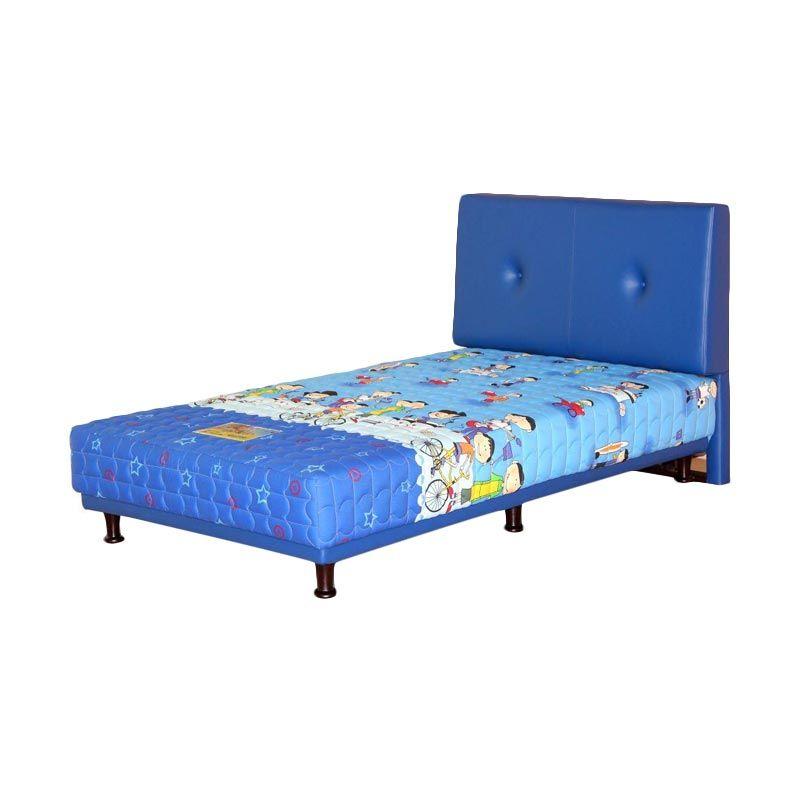 Guhdo Multibed Happy Kids Bravo Biru Set Spring Bed [120 x 200 cm]