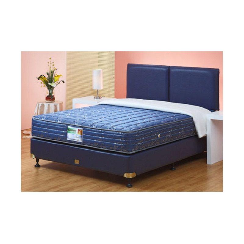 Guhdo New Prima Atlantic Style Biru Spring Bed Kasur [160 x 200]