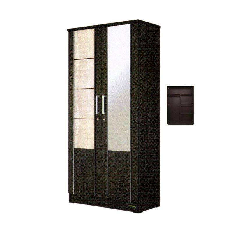 imax miracle kaca xl hitam lemari khusus jabodetabek 2 pintu