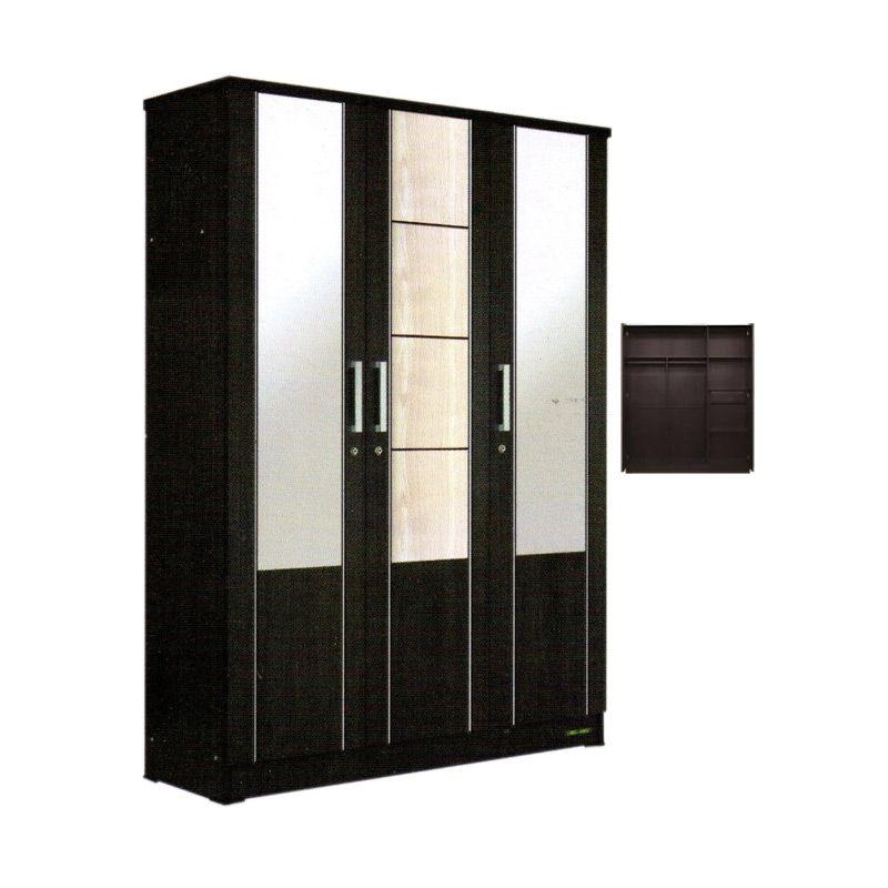 imax miracle kaca xl hitam lemari khusus jabodetabek 3 pintu