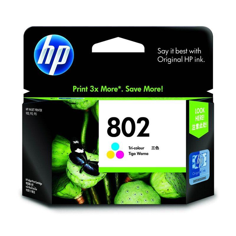 HP 802 XL Tri Color Tinta Printer