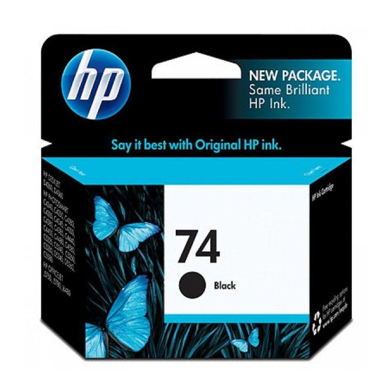 HP Inkjet Print 74 Black Tinta Printer