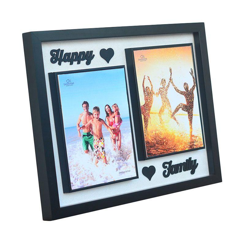Neoframe Hesper 3D Thypography Happy Family Black Bingkai Foto [6R x 2]