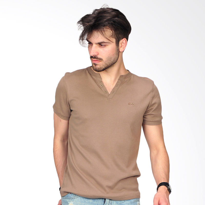Simplapy's Destroyed Men's T-shirt - Brown