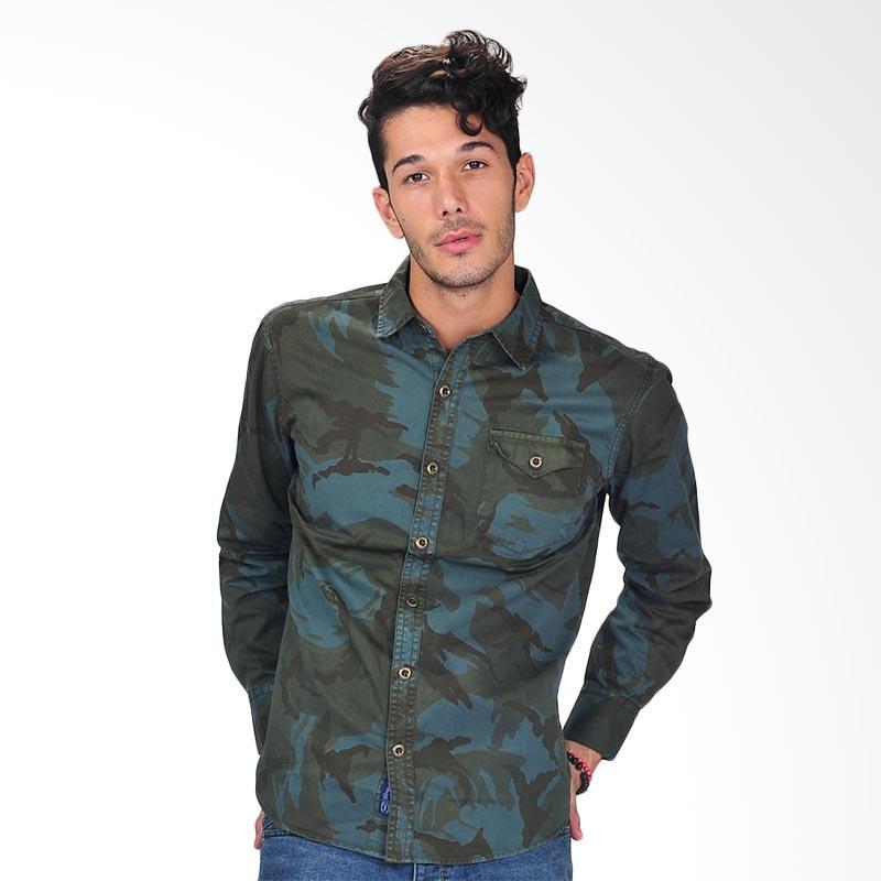 Simpaply's Men's Shirt Atasan Pria - Army Green