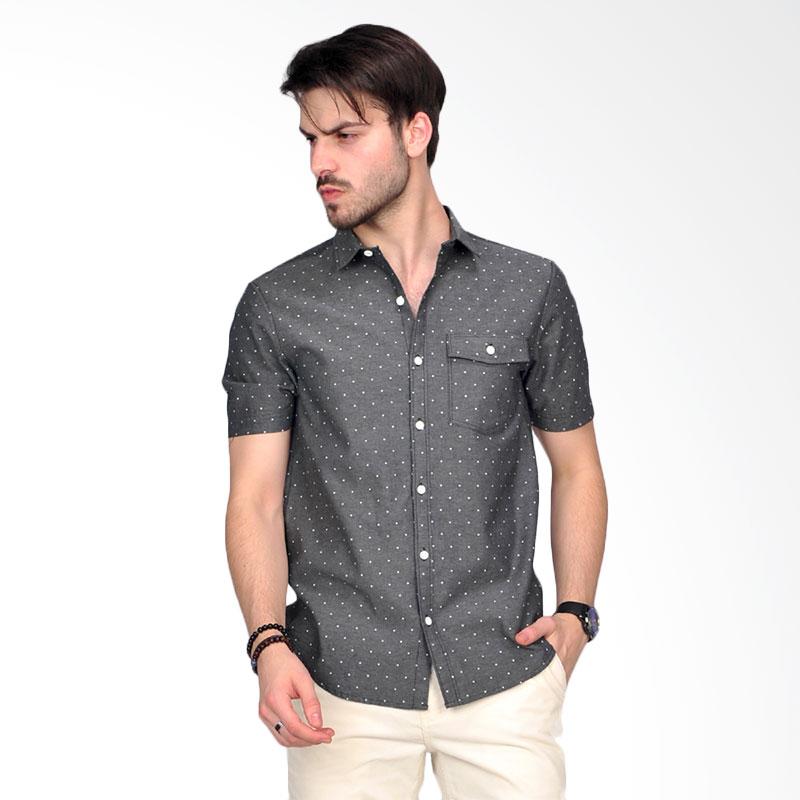 Simpaply's New Tanaska Dot Men's Shirt Atasan Pria - Grey
