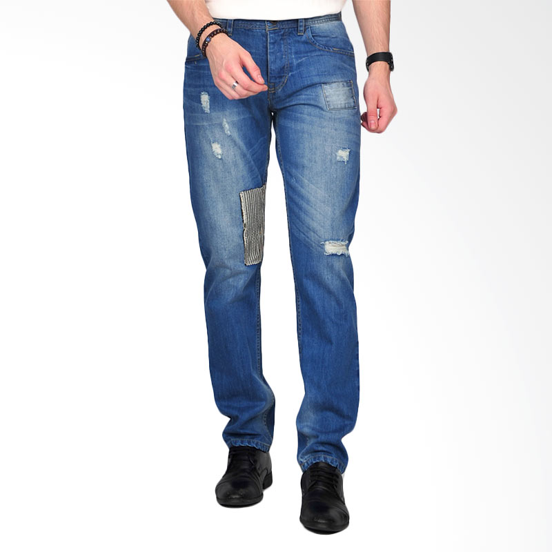 Simplapy Authentic Men's Jeans Celana Pria - Dark Blue