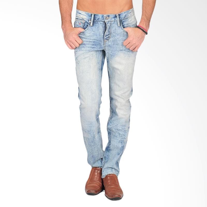 Simplapy's Centrin Acid Wash Men's Jeans Celana Pria - Blue